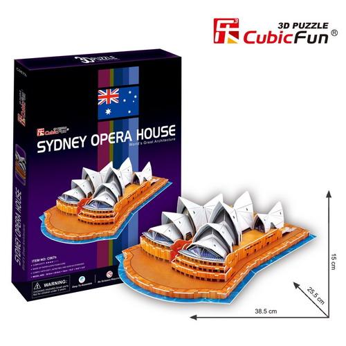 3D Puzzle CubicFun ซิดนีย์ โอเปร่า เฮ้าส์ กล่องใหม่